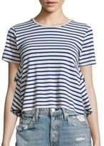 Amo Striped Ruffle Top
