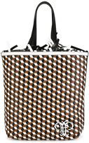Emilio Pucci geometric pattern frilled shoulder bag - women - Leather - One Size