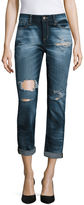 Arizona Destructed Boyfriend Jeans - Juniors
