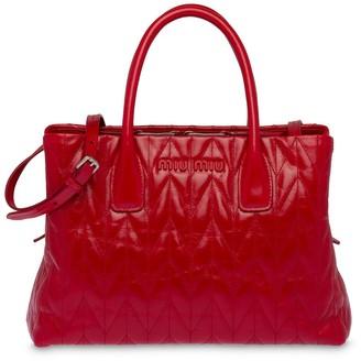 Miu Miu Quilted Glossy Tote Bag