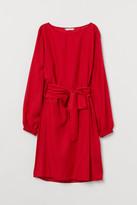 H&M Dress with Tie Belt - Red