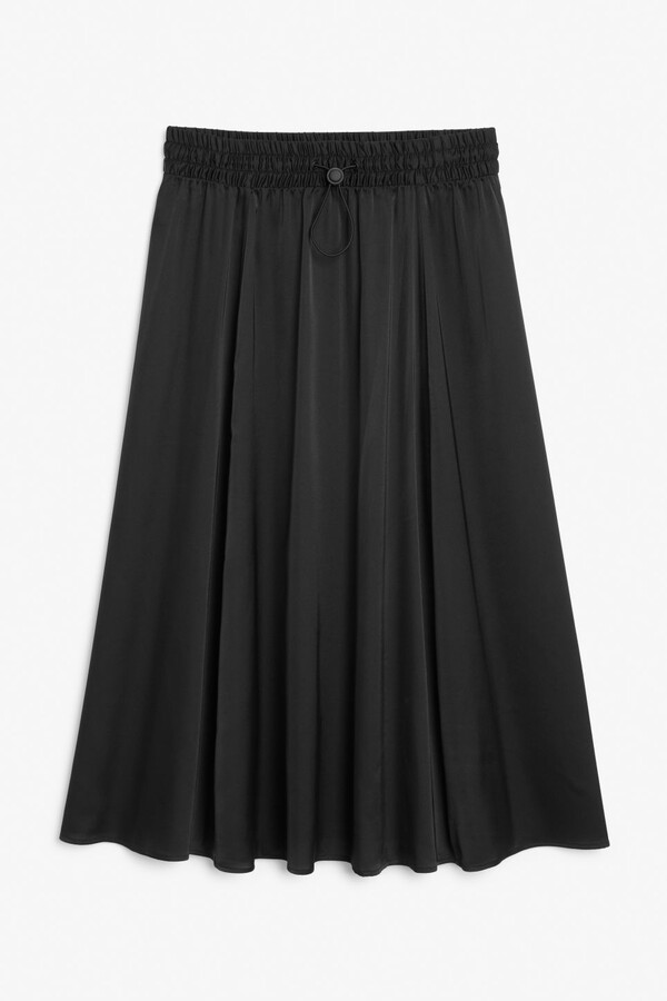 Thumbnail for your product : Monki Lightweight satin midi skirt