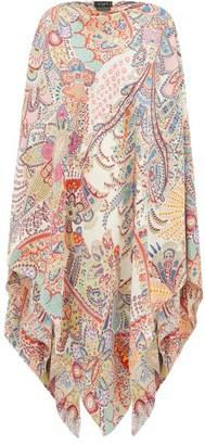 Etro Paisley-print Sleeveless Crepe Poncho - Womens - Multi