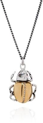 Yasmin Everley Jewellery Gilded Rhino Beetle Necklace