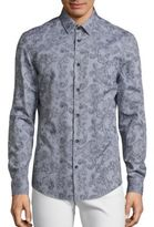 Versace Traditional-Fit Paisley Print Button-Down Shirt