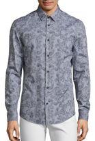 Versace Traditional-Fit Paisley Print Sportshirt