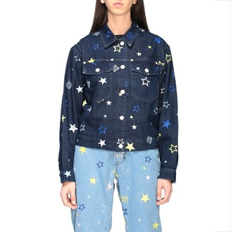 Love Moschino Jacket Denim Jacket With All-over Stars