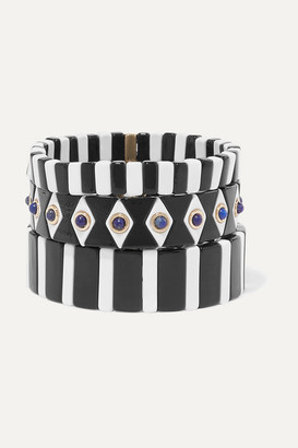 Roxanne Assoulin Bistro Set Of Three Enamel And Lapis Bracelets