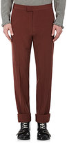 Gucci Men's Wool Crinkled Flat-Front Trousers