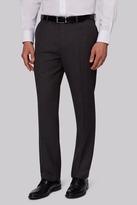 Moss Esq. Regular Fit Charcoal Birdseye Pants