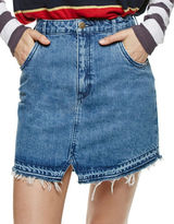 Free People Step Up Mini Denim Skirt