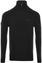 Superdry Harlo Henley Jumper Black