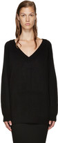 Alexander Wang Black V-Neck Sweater