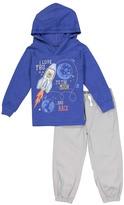 Kids Headquarters Royal Blue Rocket Hoodie & Gray Pants - Toddler