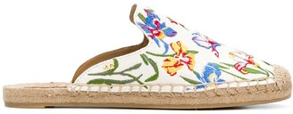 Tory Burch embroidered espadrille slippers