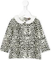 Roberto Cavalli leopard print blouse - kids - Cotton/Spandex/Elastane/Modal - 12 mth
