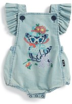 Rock Your Baby Infant Girl's Kitty Ruffle Romper