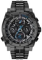Bulova Gun Metal Ip Plating Chronograph Bracelet Watch 98g229
