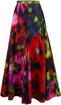 Carolina Herrera Superbloom Floral Wide Leg Pleated Palazzo Pant
