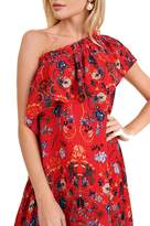 Umgee USA One-Shoulder Floral Dress