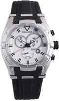 Police Men's PL.13092JS/04 Black Rubber Analog Quartz Watch with Dial