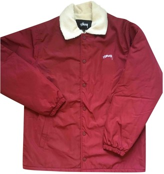 Stussy Burgundy Cotton Jackets