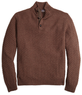 Brooks Brothers Braemar for Button Mockneck Sweater