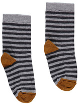 Nui Striped Merino Wool Socks Dark grey