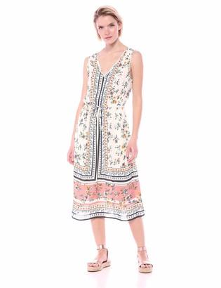 Lucky Brand Women's Sleeveless Printed Olivia Dress