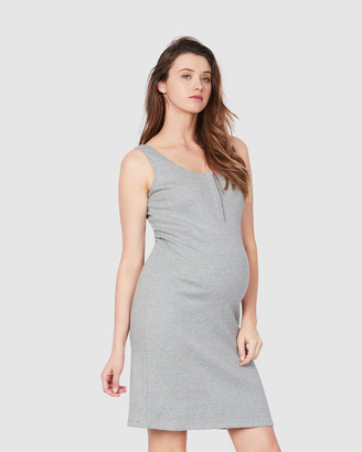 Soon Women's Grey Midi Dresses - Essential Feeding Tank Dress - Size One Size, XS at The Iconic