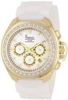 Freelook Women's HA6303G-9X Aquamarina III White/Gold Swarovski Silicone Watch