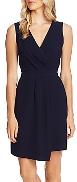 Vince Camuto Sleeveless Faux-Wrap Dress
