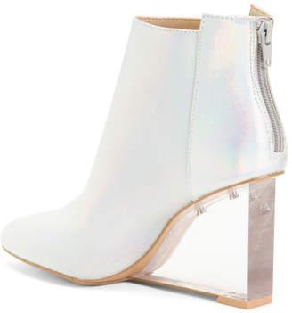 Wedge Clear Heel Booties
