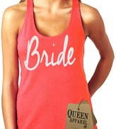 Queen Apparel- Bride tank top U.S.A. womens (x-large, pink)