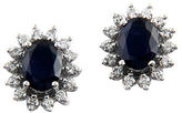Effy Gemma Sapphire, Diamond and 14K White Gold Earrings, 0.69TCW