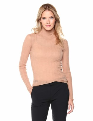 Theory Women's Long Sleeve Sheer Turtleneck TOP