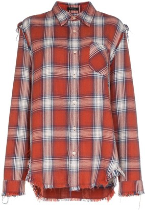 R 13 Mosshart checked shirt