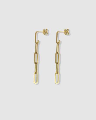 Ca Jewellery Link Chain Drop Earrings Gold