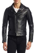 Diesel Black Gold Caviar Phoenix Leather Biker Jacket
