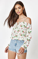 KENDALL + KYLIE Kendall & Kylie Keyhole Off-The-Shoulder Top