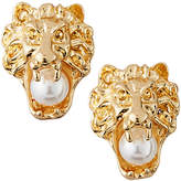 Natasha Accessories Limited Lion Head Pearly Earrings