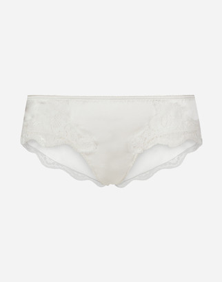Dolce & Gabbana Satin Briefs With Lace