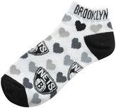 For Bare Feet Women's Brooklyn Nets Logo Repeat Socks
