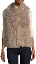 Quinn Curly Lamb Fur Vest