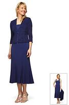 Alex Evenings Jacquard Jacket Dress