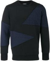 Diesel paneled sweater