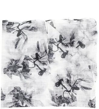 Brunello Cucinelli Long Floral Print Scarf