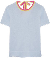 Prada Distressed Wool And Cashmere-blend Sweater - Sky blue