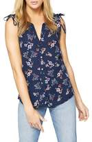Sanctuary Tie Shoulder Floral Shell