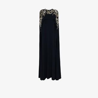 Oscar de la Renta Crystal Cape Gown